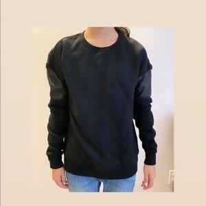 Rag & Bone Sweater with leather insert